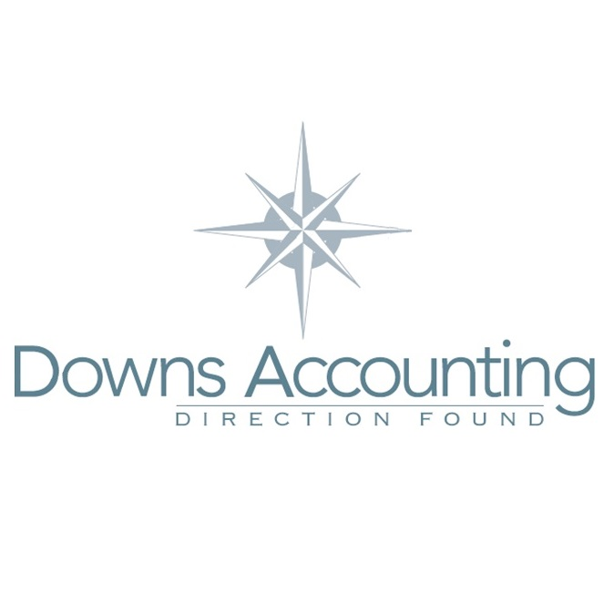 Downs Accounting Logo compass on top 2017